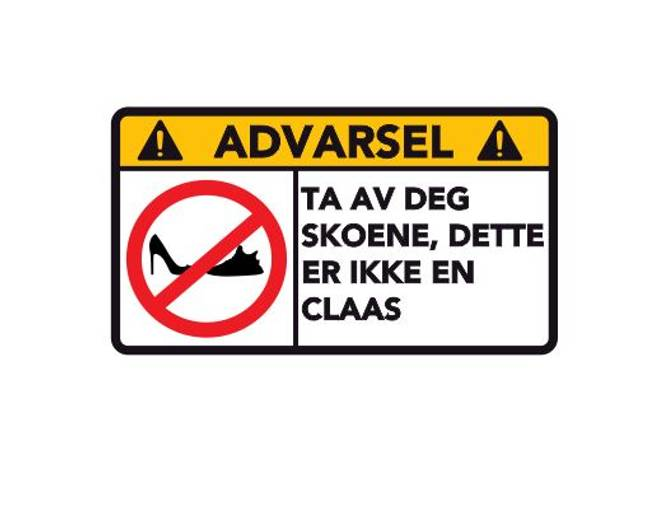 Bilde av Advarsel Dette Er Ikke En Claas