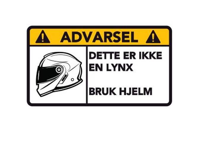 Bilde av Advarsel Dette Er Ikke En Lynx