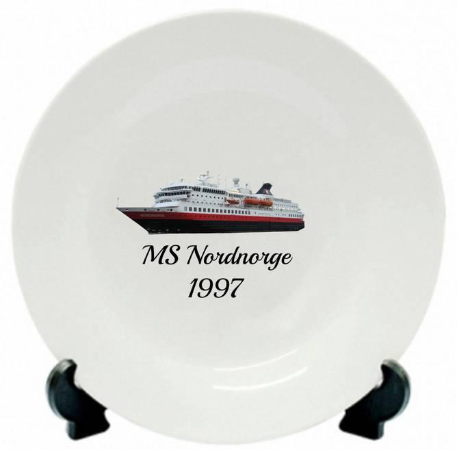 Bilde av Tallerken MS Nordnorge 1997