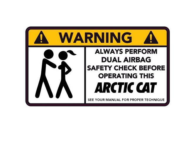 Bilde av Warning Always Perform Dual Airbag Check