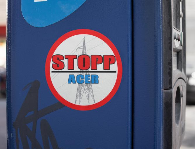 Bilde av STOPP ACER rundt KLISTREMERKE