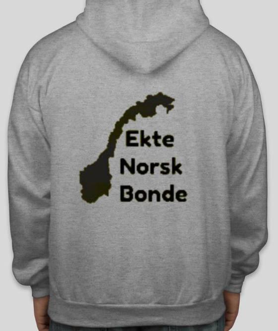 Bilde av Hettegenser Ekte Norsk Bonde